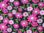 GROOVY DAISY FLOWER - Floral Fabric- POLY COTTON - Price Per Metre